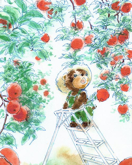 テディベアとりんご園