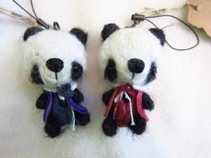 パンダ2体