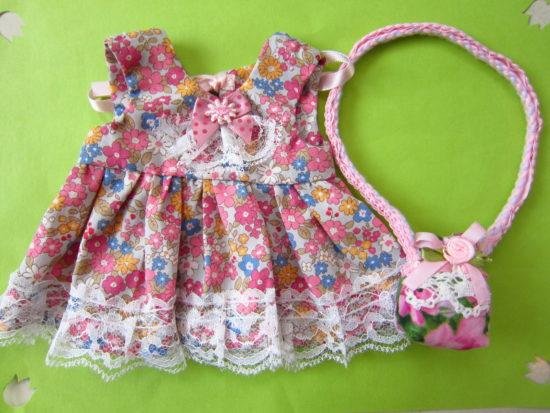 ドレス+お花のバッグ