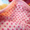 内側の生地(ピンクの水玉)