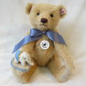 【シュタイフ】Teddy bear with Little felt elephant【テディベアとリトルエレファント】