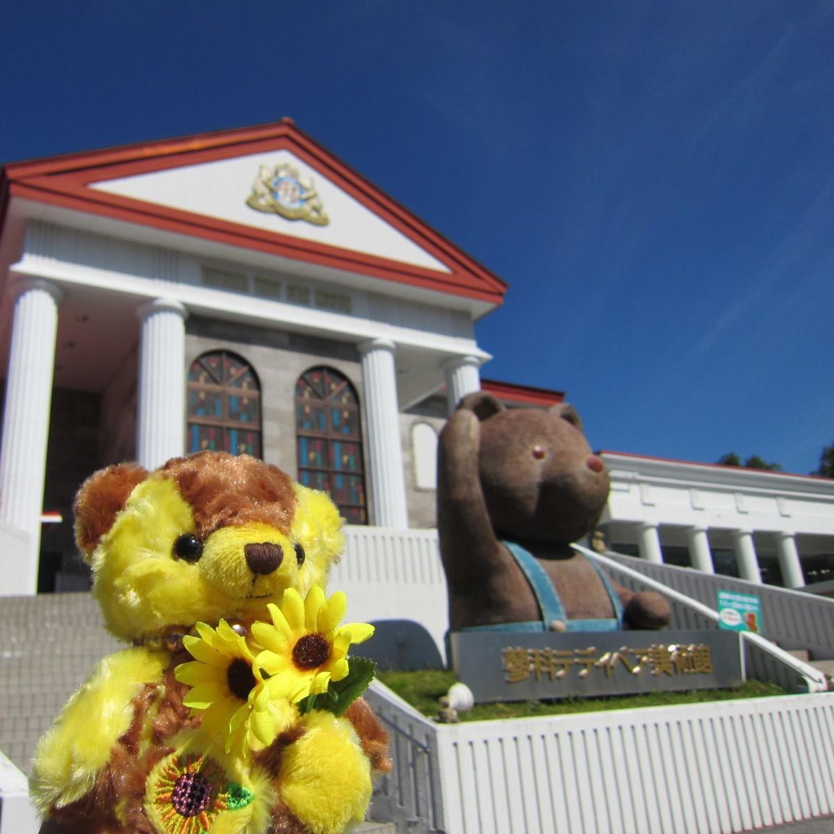 フラワーベア(ヒマワリ)と美術館