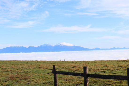 雲海と白くなった浅間山
